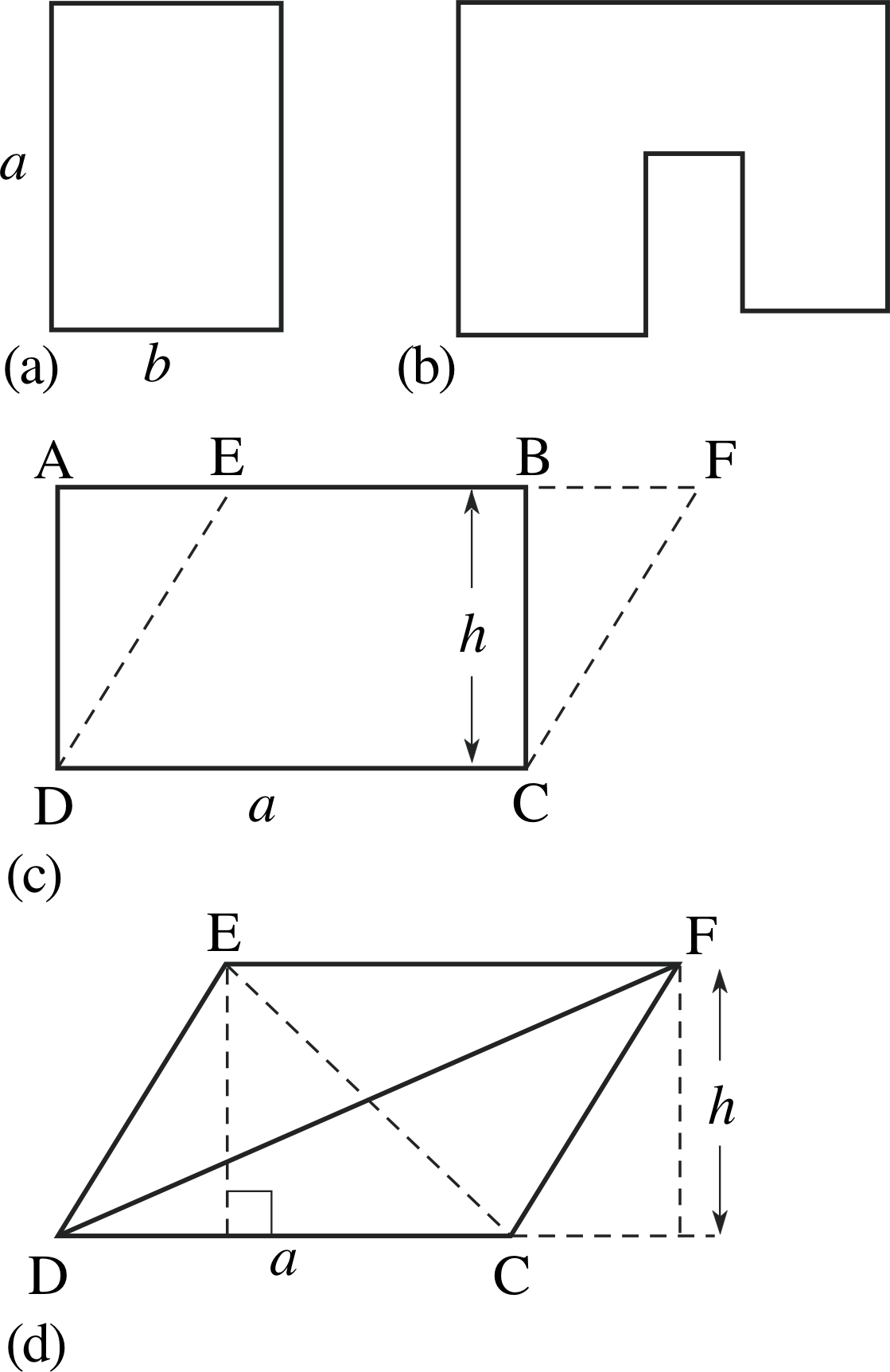 The Areas Of Quadrilaterals And Triangles