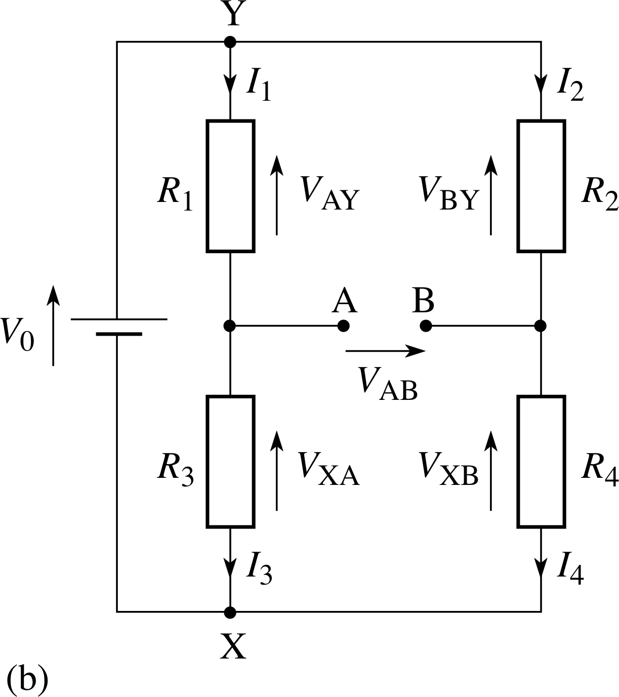 Pplato Flap Phys 41 Dc Circuits And Currents Im Solving The Circuit With Nodal Analysis Following Steps Of Figure 14b Wheatstone Bridge
