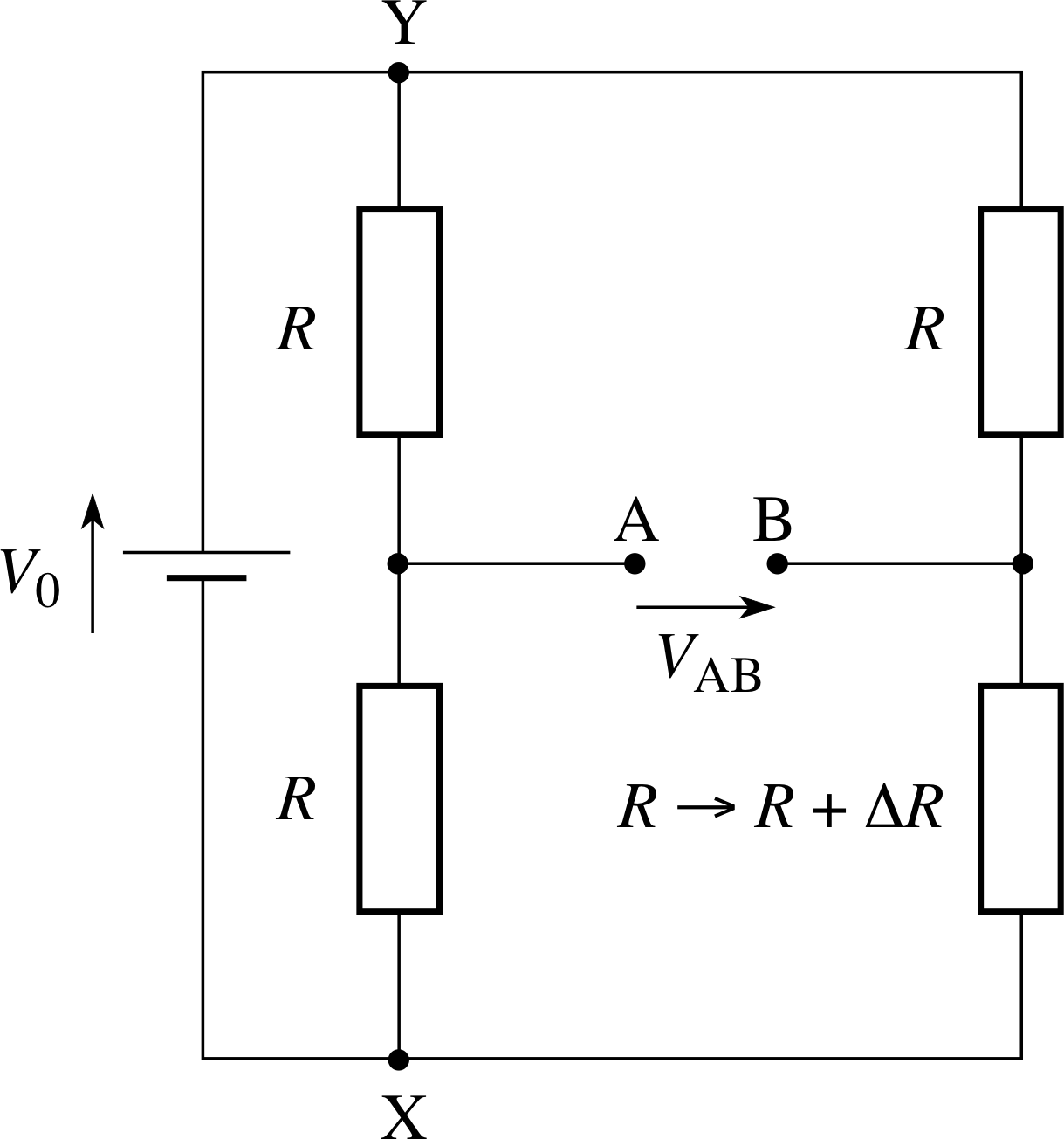 Wheatstone Bridge Unbalance Condition on ntc thermistors temperature measurement with wheatstone bridge