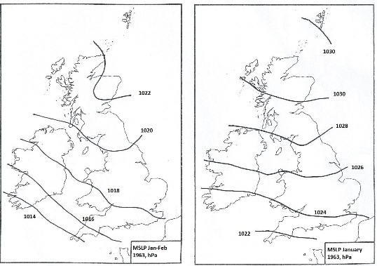 Winter MSL pressure, 1962-1963.
