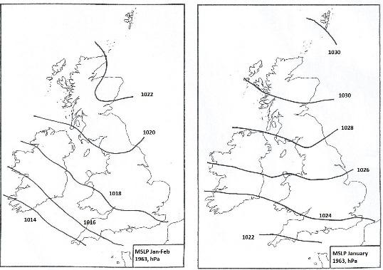 Winter MSL pressure, 1962-1963.