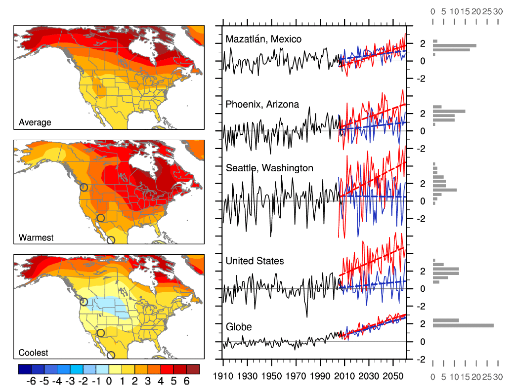 Visualising The Role Of Natural Variability Climate Lab Book - Map of north america climate